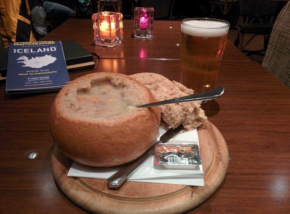 Soup and Beer - A Hearty Dinner!